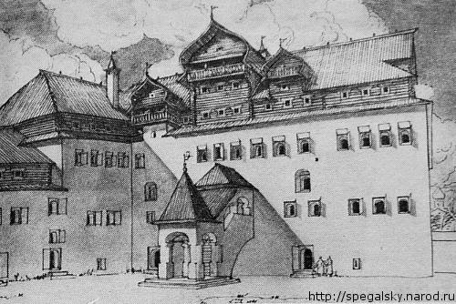 Поганкины палаты (дворовый фасад). Реконструкция Ю. П. Спегальского.