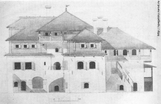 Палаты Трубинского (дворовый фасад). Реконструкция Ю. П. Спегальского.